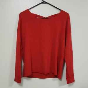 Splendid Red Sweatshirt with Crisscross Back